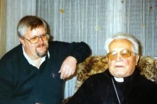 Bischof Paul Maria Hnilica und Peter Koros